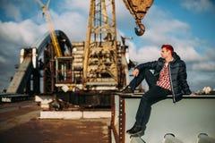 Photo de style de mode d'un homme bel photo libre de droits
