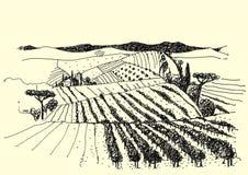 Photo de stylo rurale d'encre de paysage - Illustration Libre de Droits