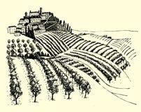 Photo de stylo rurale d'encre de paysage - vecteur Illustration de Vecteur