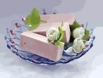 Photo de sucrerie avec des fleurs Images stock