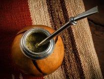 Photo de thé de compagnon de Yerba Photographie stock