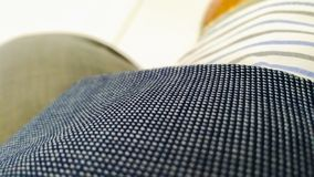 Photo de tissu de veste de costume macro image stock