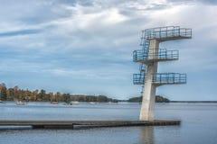 Photo de tour de plongée au lac Photo stock