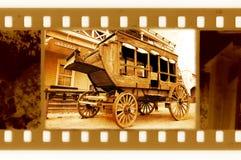 Photo de trame des anciens 35mm avec le vieux chariot Image libre de droits