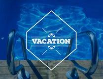 Photo de vacances de piscine Photo libre de droits