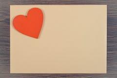 Photo de vintage, décoration de coeur et lettre d'amour pour le jour de valentines, l'espace de copie pour le texte Photos stock
