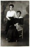 Photo de vintage de mère et de fille Photographie stock