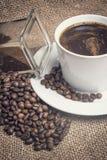Photo de vintage de thème de café Photo stock