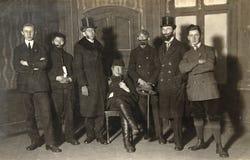 Photo de vintage des acteurs de théâtre Photographie stock libre de droits