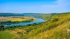 Photo de vue aérienne de canyon grand de rivière Photographie stock