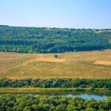 Photo de vue aérienne de canyon grand de rivière Photos libres de droits
