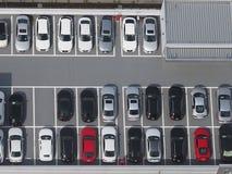 Photo de vue supérieure de parking Photos libres de droits