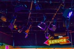Photo de Warner Bros à l'intérieur des vues Visite Hollywood, VISITE de studio de VIP placez le film de ville de lego, costume de Image libre de droits