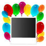 Photo decorated with balloons. Illustration photo decorated with balloons Stock Photography