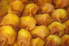 Photo of deep fried quail egg wontons Royalty Free Stock Photography