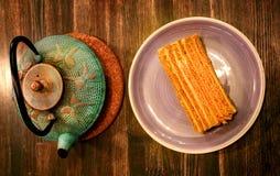 Photo of delicious big honey cake Royalty Free Stock Photos
