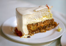 Photo of a delicious cheesecake. In a cafe stock images
