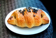 Photo of delicious fresh croissant Stock Images