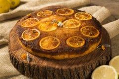 Photo of delicious homemade lemon cake Stock Image