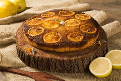 Photo of delicious homemade lemon cake Royalty Free Stock Images