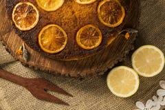 Photo of delicious homemade lemon cake Royalty Free Stock Photography