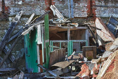 Photo from demolition  textile  factory Stock Photo