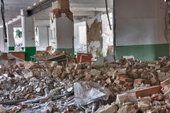 Photo from demolition  textile  factory. In sunny day Royalty Free Stock Photography