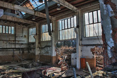 Photo from demolition  textile  factory Stock Photos