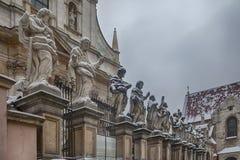 Photo des apôtres à l'église de St Peter et de Paul à Cracovie Images libres de droits