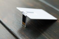 Photo des cartes vierges de carte flash d'usb Photos stock