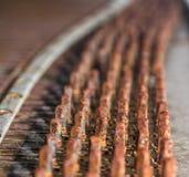 Photo des détails du vieux piano cassé pour le fond Images libres de droits