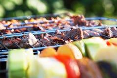 Photo des légumes et du barbecue Photos stock