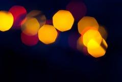 Photo des lumières de bokeh Photographie stock