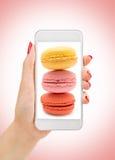 Photo des macarons Image stock
