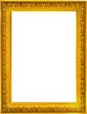 Gold photo frame. Photo design of gold photo frame on white background Royalty Free Stock Photos