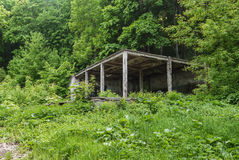 Photo of the destroyed pavilion Royalty Free Stock Images