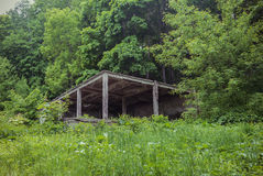 Photo of the destroyed pavilion Royalty Free Stock Image