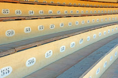 Photo detail of bullring seats Stock Photography