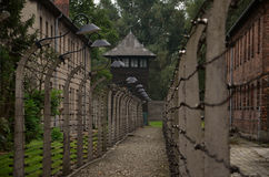 Photo detail in nazi concentration camp in Poland Stock Images