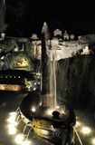 The Rometta fountain at night royalty free stock images
