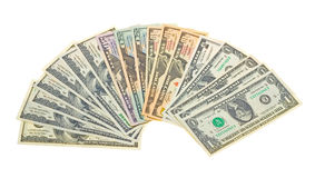 Photo of different banknotes US dollars Royalty Free Stock Photo
