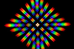 Photo of the diffraction pattern of LED array light, comprising a large number of diffraction orders Royalty Free Stock Images