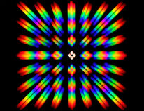 Photo of the diffraction pattern of LED array light, comprising a large number of diffraction orders Royalty Free Stock Photo