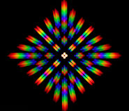Photo of the diffraction pattern of LED array light, comprising a large number of diffraction orders Royalty Free Stock Image