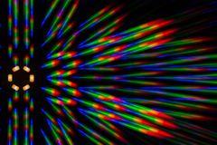 Photo diffraction pattern of the LED array, obtained by the grating Royalty Free Stock Photos
