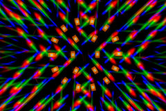 Photo diffraction pattern of the LED array, obtained by the grating Stock Photography