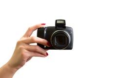 photo digitale de main d'appareil-photo Image stock