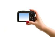 photo digitale de main d'appareil-photo Photos libres de droits