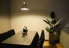 Photo of Dining Table near the Plant Royalty Free Stock Photos