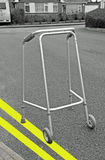 Illegally parked walking frame Stock Image